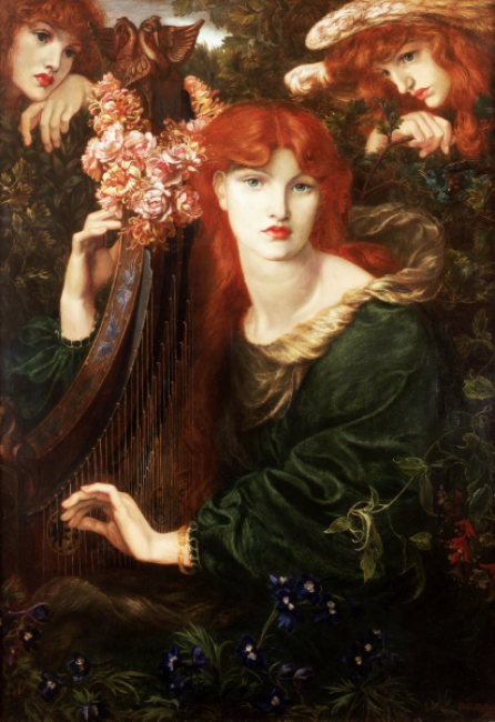 La Ghirlandata by Dante Gabriel Rossetti, 1873.