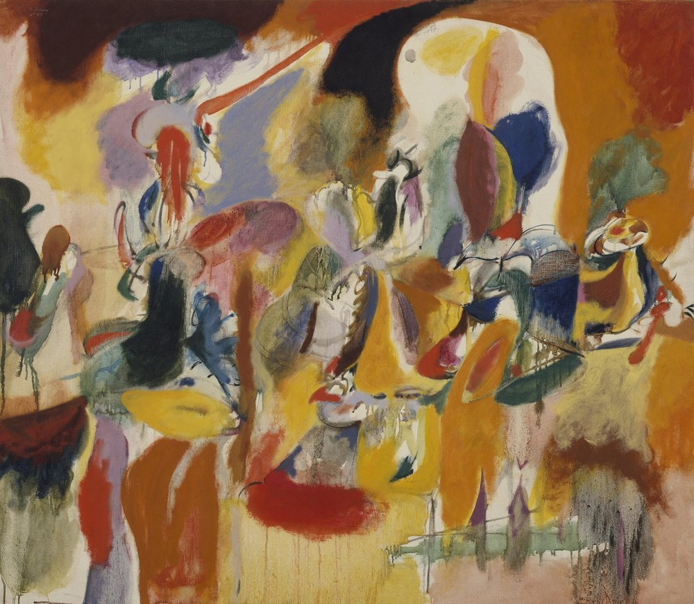 Key 305,   Arshile Gorky,    Water of the Flowery Mill   , 1944, Oil on canvas, 107.3 x 123.8 cm.   The Metropolitan Museum of Art, New York