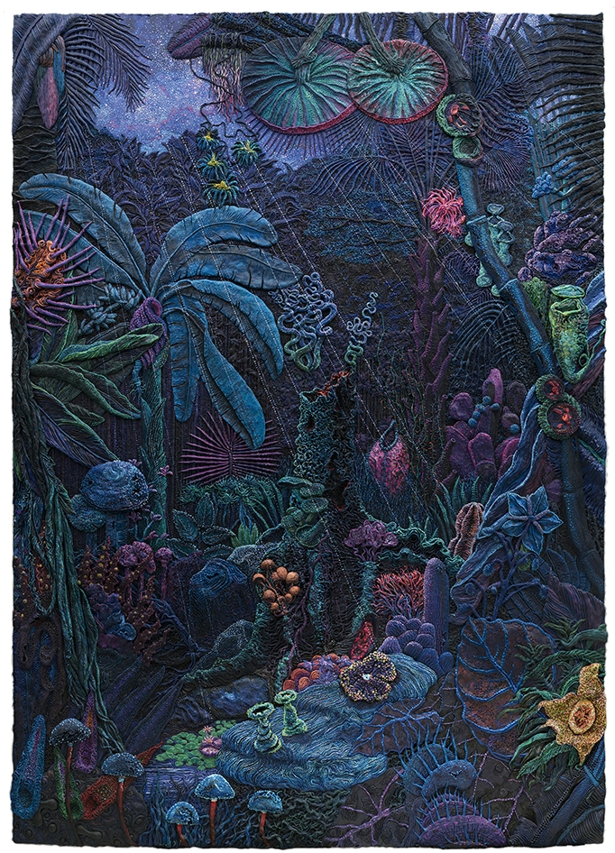 Henry Hudson, 00:00 - 02:00, Plasticine on aluminium board, 210 x 150 cm, Executed in 2016