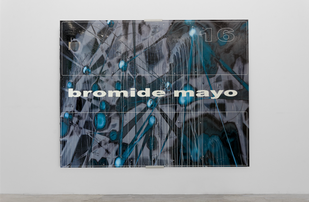 """GCC 2016-Jason Matthew Lee-005"" bromide mayo, 2016, painting on dibon, 165 x 211 cm © Aurélien Mole Courtesy Crèvecoeur, Paris"