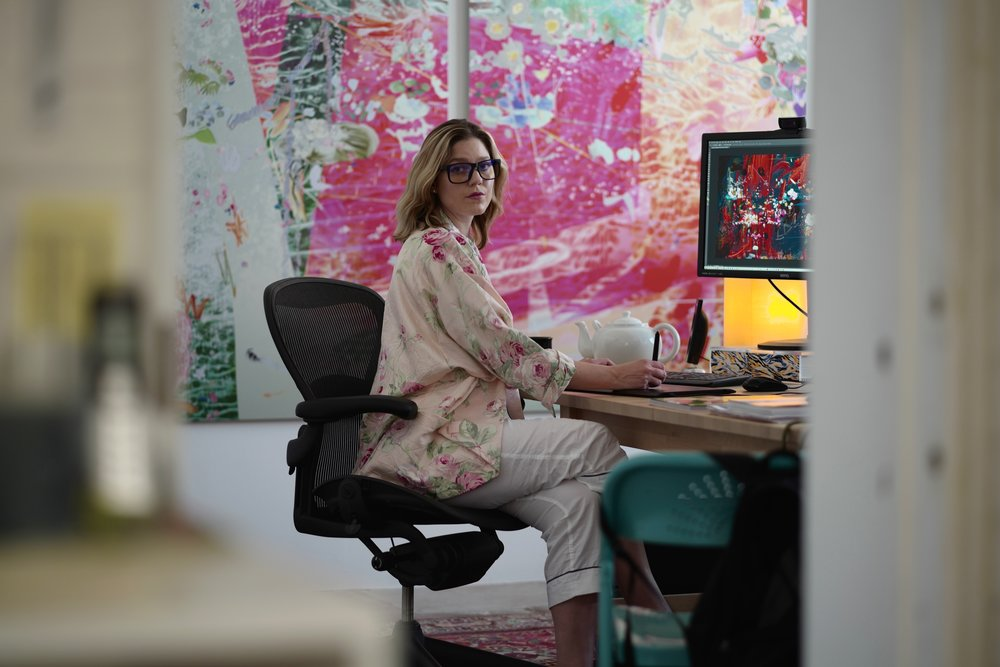 Portrait courtesy of Petra Cortright's studio.