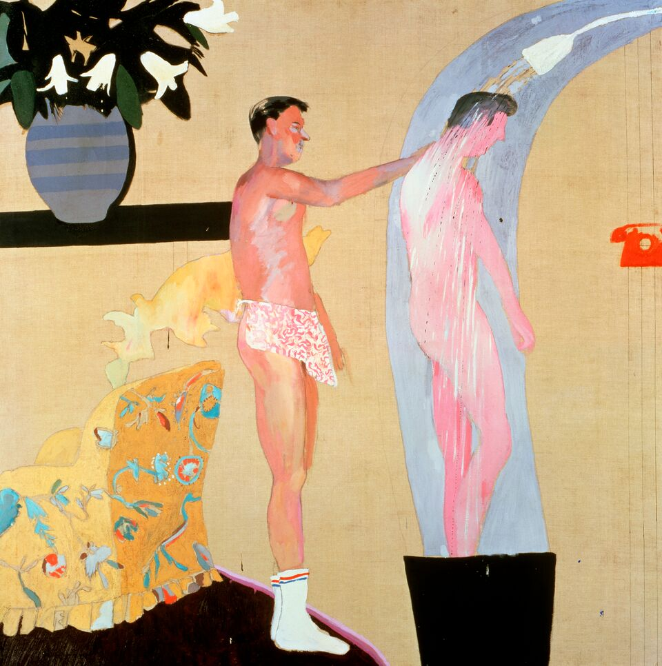 Domestic Scene, Los Angeles 1963. Oil paint on canvas. 1530 x 1530mm. Private collection © David Hockney