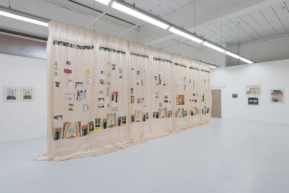 Morning Defeats  - Marie Jacotey, installation view, 2017, Hannah Barry Gallery. All images courtesy of the artist and Hannah Barry Gallery.