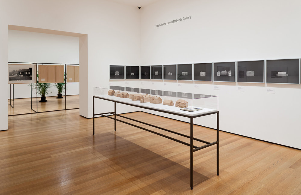 Installation view, (1994-1991) Former NKVD – MVD – MGB – KGB Buildings, 2009-ongoing, Ocean of Images: New Photography 2015, MoMA, New York, photo: MoMA