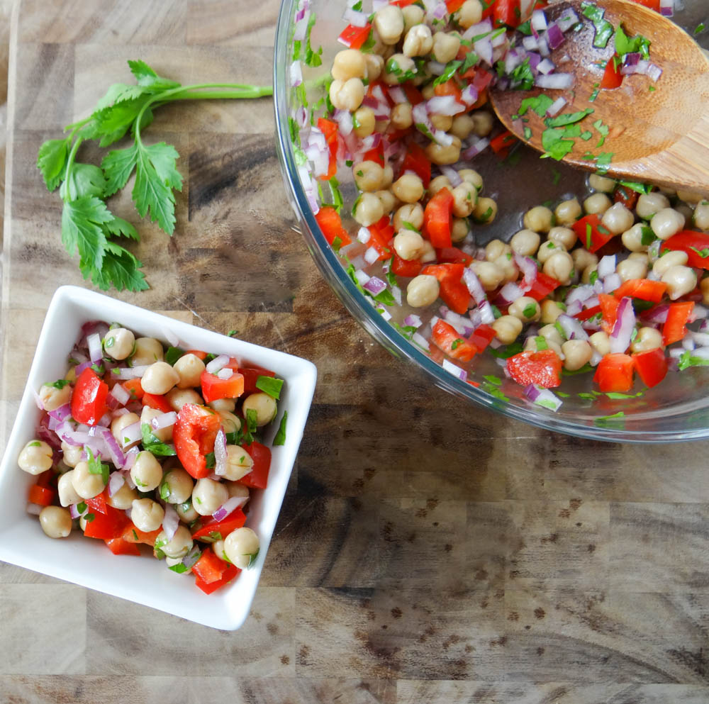 Christmas in July Chickpea Salad — Delicious Balance