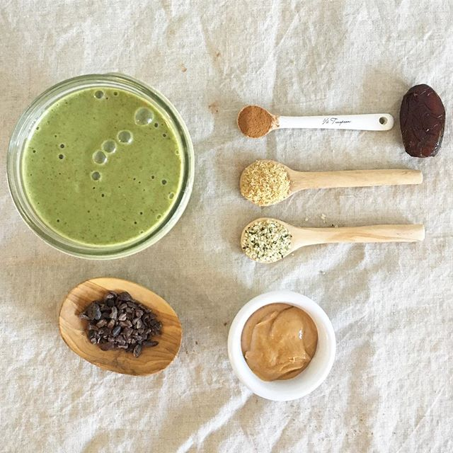 """How are you guys starting off your week? I'm about to whip up a double batch of my favorite Superfood """"Cold Weather"""" Smoothie for the hubby and me. Check out the link in my profile for the recipe! #deliciousbalance  #rdlife #greensmoothie #superfood #smoothie #coldweatherdrink #healthylife #mondaymotivation #heresmyfood #plantbased #healthylifestyle #nutritionable #eeeeeats"""