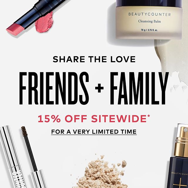 Hi friends! I recently joined Beautycounter in their mission to get safer skincare products into the hands of consumers. I will be creating a separate IG account if you are interested in leaning more about the company and products but I couldn't resist sharing the information about their 15% of friends and family sale that ends today! If you have been curious about any Beautycounter products, this is a great chance to try them out! Let me know if you have any questions or use the following link to shop.  Www.beautycounter.com/rachelnorman