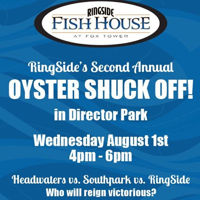 Come one come all. #ringsideshuckoff #ringsideshuckoff2018 #ringsidefishhouse #fishhouseshuckoff #fishhouseshuckoff2018