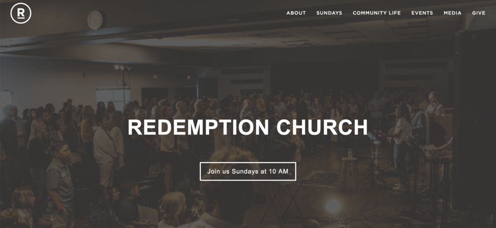 Website + Social Media Content - RedemptionChurch.org / Hired to create content and execute marketing strategy around each sermon series. Specialties include graphic design, email copy and social media content.