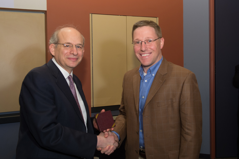 President David Leebron with Caleb McDaniel, Associate Professor of History