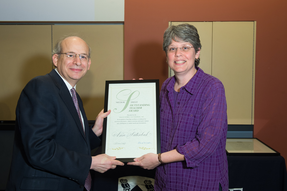 President David Leebron with Ann Saterbak, Associate Dean and Professor in the Practice of Bioengineering