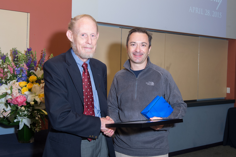 Associate Dean Bart Sinclair with Rich Baraniuk, Victor E. Cameron Professor of Engineering
