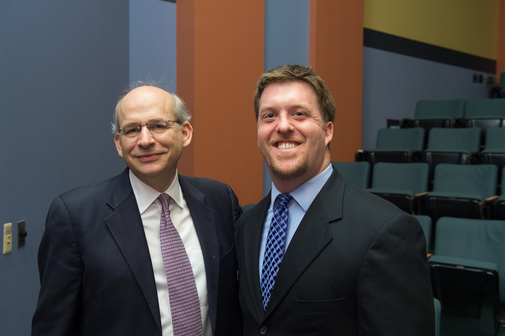 President David Leebron with Joshua Eyler, Director of the Center for Teaching Excellence