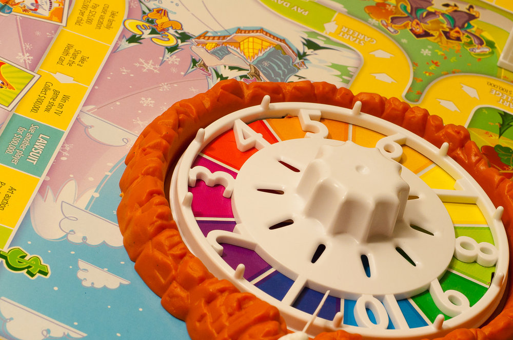 "Image of the spinner from the board game ""Life"""