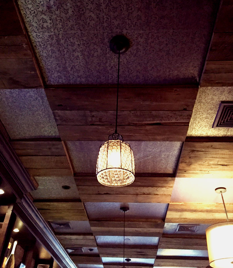 Ivy Bar _ Metallic & Wood Ceiling