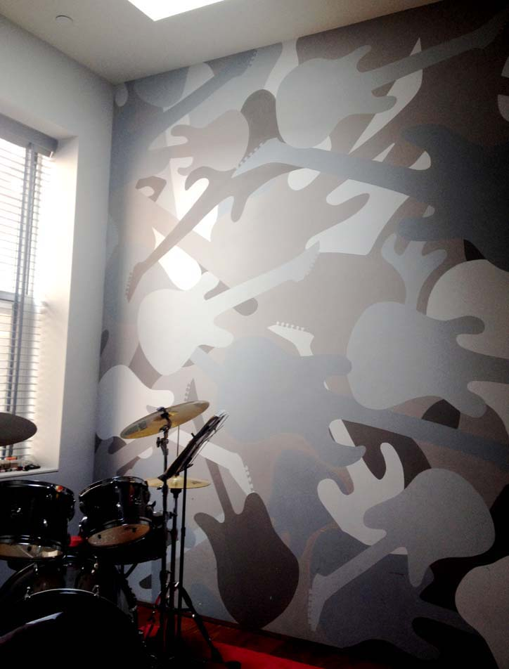 Guitar Camo - Music Room