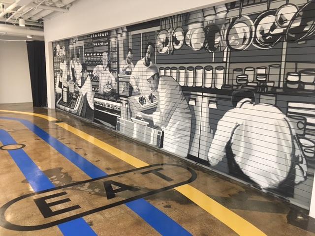 Facebook - Custom Mural and Floor Graphics