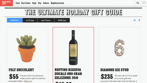 Toronto Life Magazine , Ultimate Holiday Gift Guide