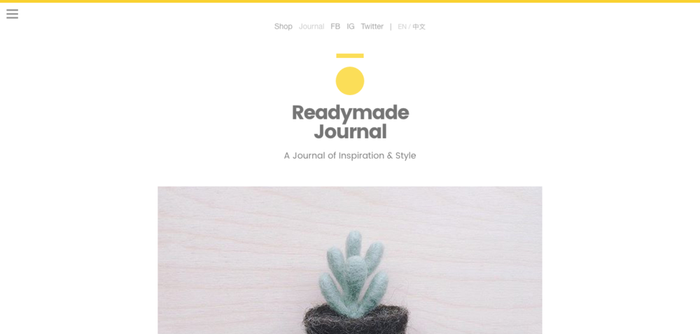 Readymade Journal_Screenshot