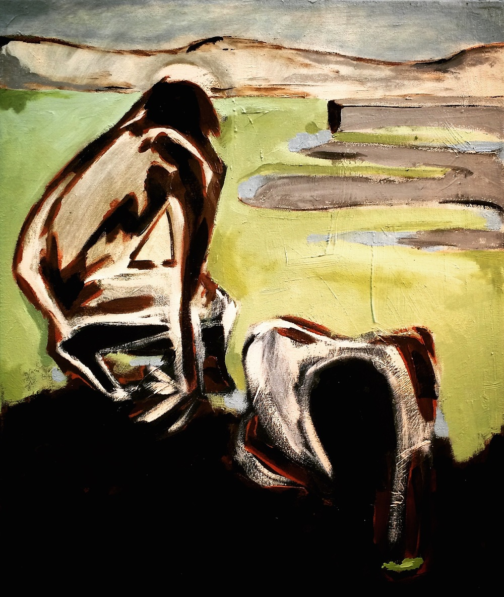 Two Women in the Mud, 2015