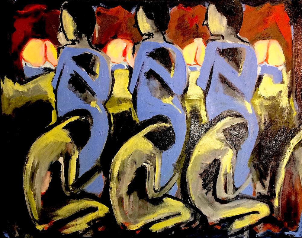 Man, Woman, Udders I, 2015