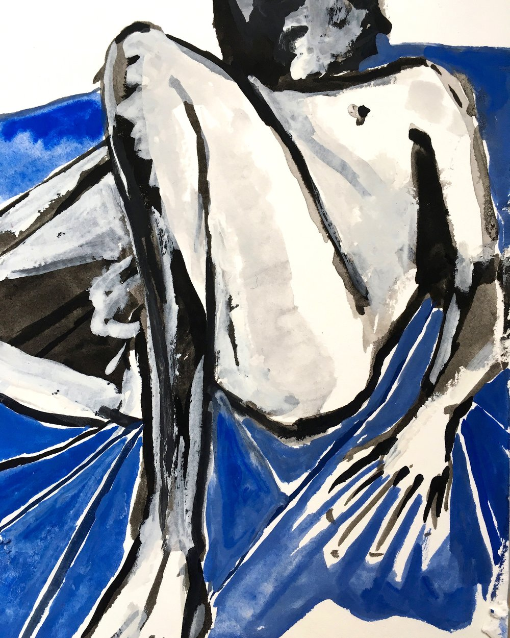 Nude on Blue (2017)
