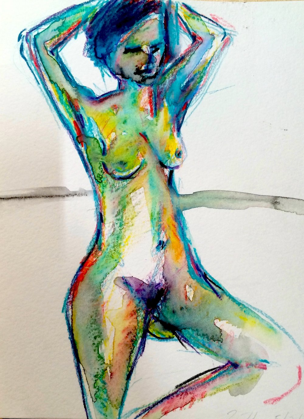 Nude in Greens, Blues (2016)