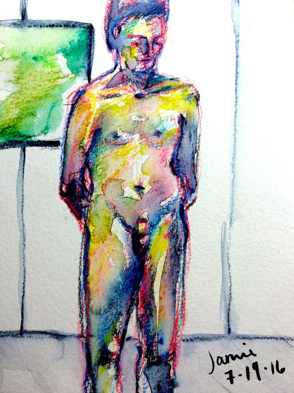 Nude in Yellows, Pinks (2016)
