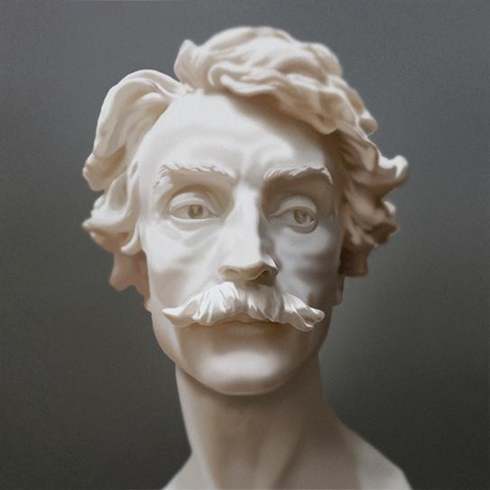 Bust of Jean-Léon Gérôme by Jean Baptiste Carpeaux