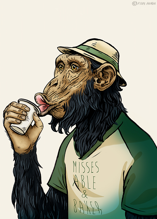 Hipster Monkeys Chimpanzee