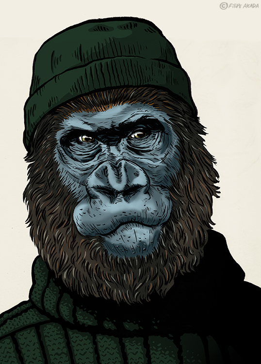 Hipster Monkeys Gorilla