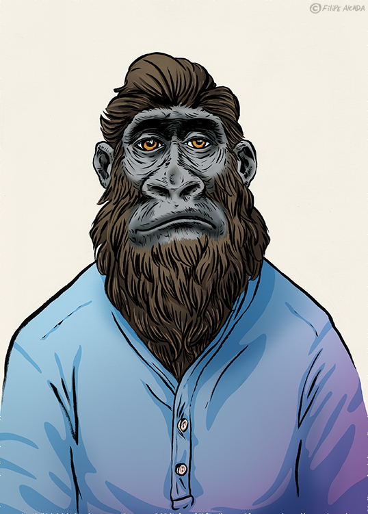 Hipster Monkeys Lowland Gorilla