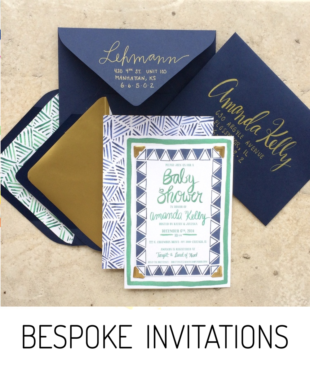 BESPOKE INVITATIONS // EMILY ROSE INK