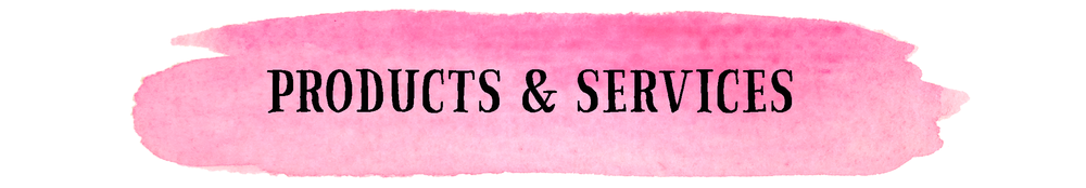 PRODUCTS & SERVICES // EMILY ROSE INK