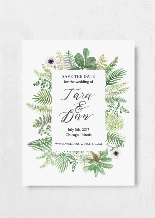 save the date greenhouse emily rose ink