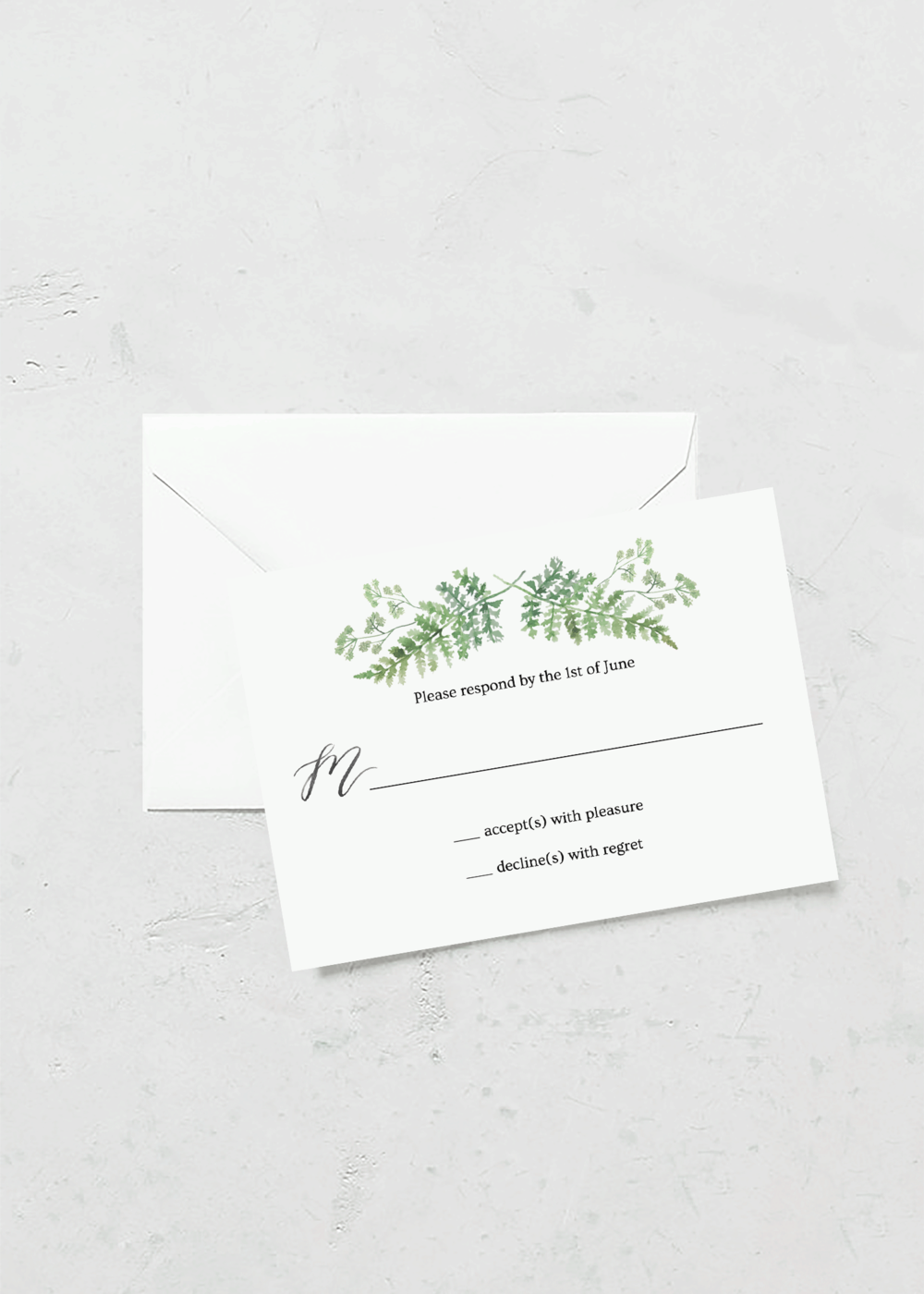 rsvp cards greenhouse