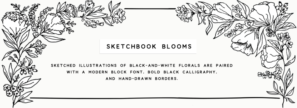 sketchbook blooms banner