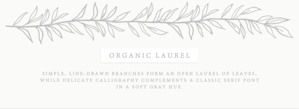 Organic Laurel Wedding Invitations