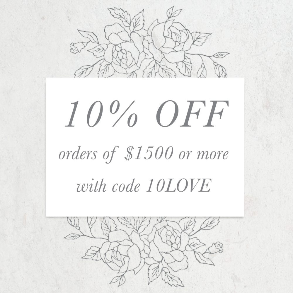 coupon emily rose ink wedding invitation