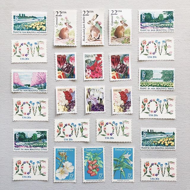 Sun's out bun(nies) out for Easter weekend! These vintage stamps are really giving me spring vibes today and I'm feeling it! 🌷🐰🐣