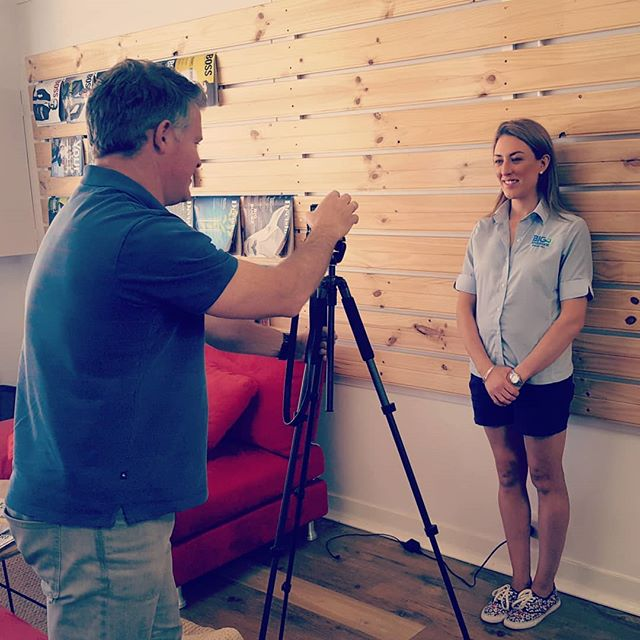 Photographing all of the volunteer commitee and board members like Ainsley for the new #SwanHill Incorporated website at our @malleerising office location.  The launch is days away and as a chamber of commerce type organisation the website requirements are different to other websites we've launched for businesses this year. Nice project!