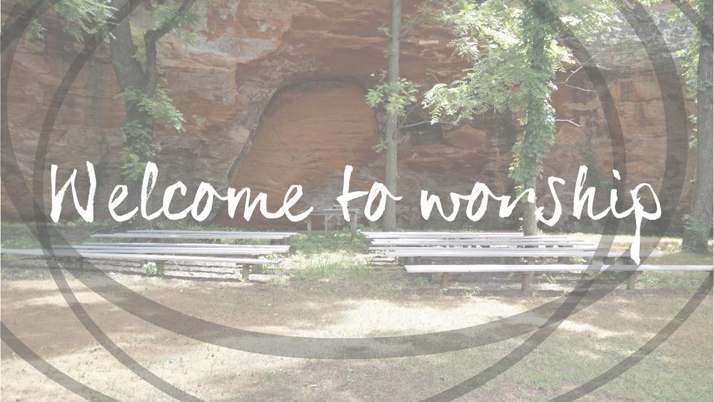 Welcome To Worship slide