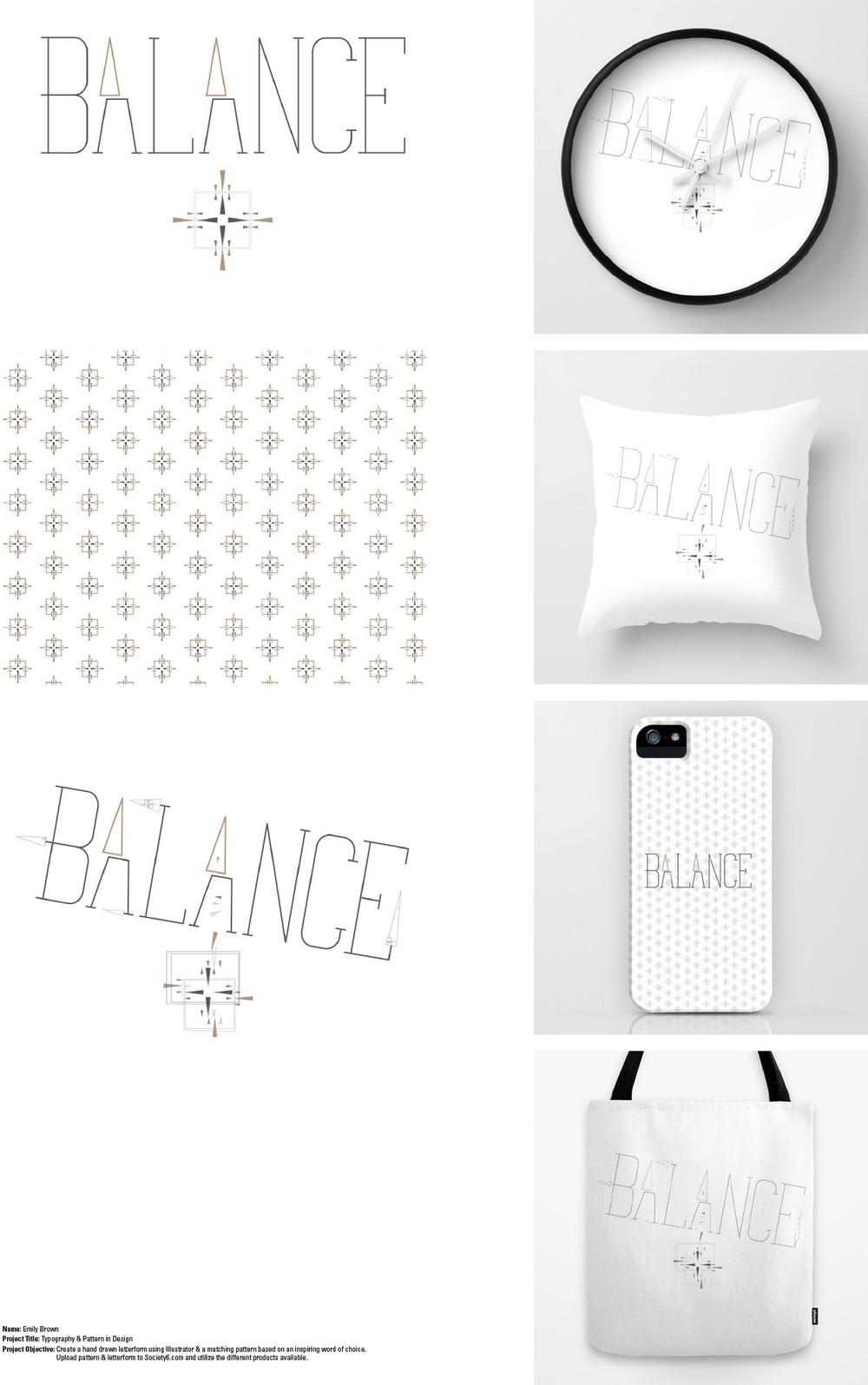 Society6 Pattern & Letterform