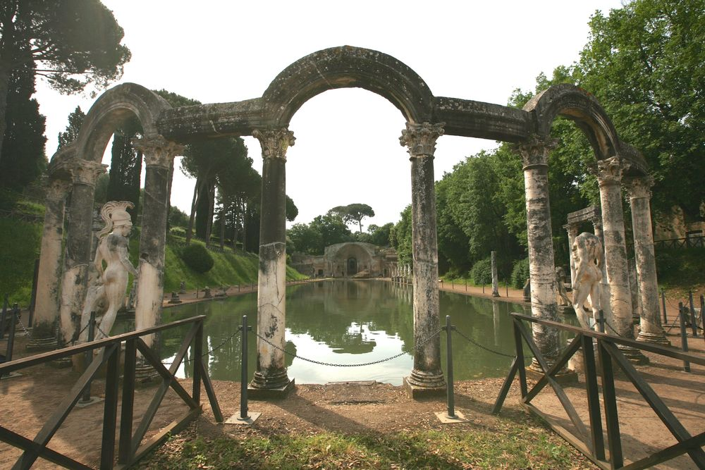 Hadrian's Villa is a great example of a Roman era garden. Rome, Italy, 140's CE.