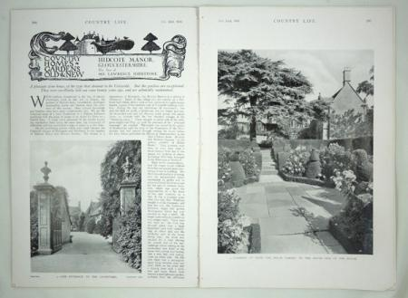 The February 22, 1930 issue of   Country Life   that featured Hidcote. Source: rostronandedwards.com