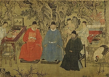 Elegant Gathering in the Apricot Garden , Ming dynasty, ca. 1437. Source: Metropolitan Museum of Art.