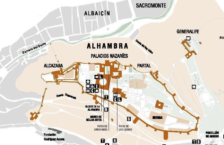 Garden map of the Alhambra and Generalize