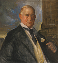 James Buchanan Duke. Oil on canvas, c. 1922, by John Da Costa.  Source: National Portrait Gallery, Smithsonian Institution.