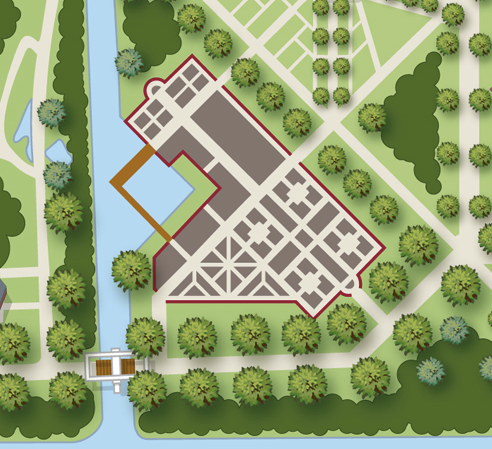 "Plan of the ""Historical Garden"" at Keukenhof."