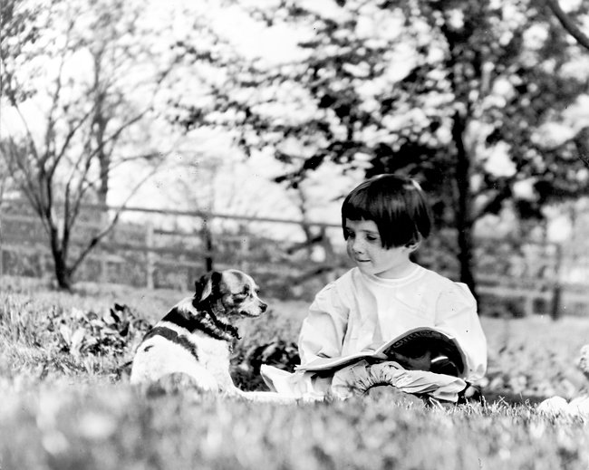 Rachel Carson as a child playing on her family farm.   Her access to nature at an early age sparked a life long interest in the inter-dependency of all living things.  Source: Linda Leer  Witness for Nature .